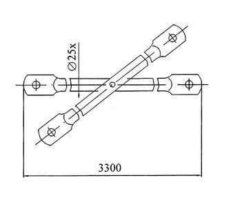 Диагональ L=3,3 м