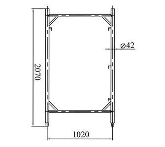 Рама проходная 2x3 м