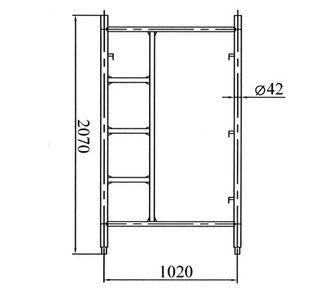 Рама с лестницей 2x3 м