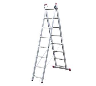 Лестницы-стремянки алюминиевые 2-х секционные Лестница двухсекционная 2х15