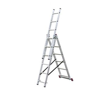 Лестницы-стремянки алюминиевые 3-х секционные Лестница трехсекционная 3х7