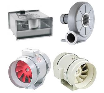 Вентиляторы Радиальные, осевые и крышные вентиляторы